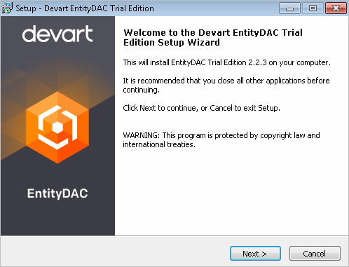 EntityDAC full screenshot
