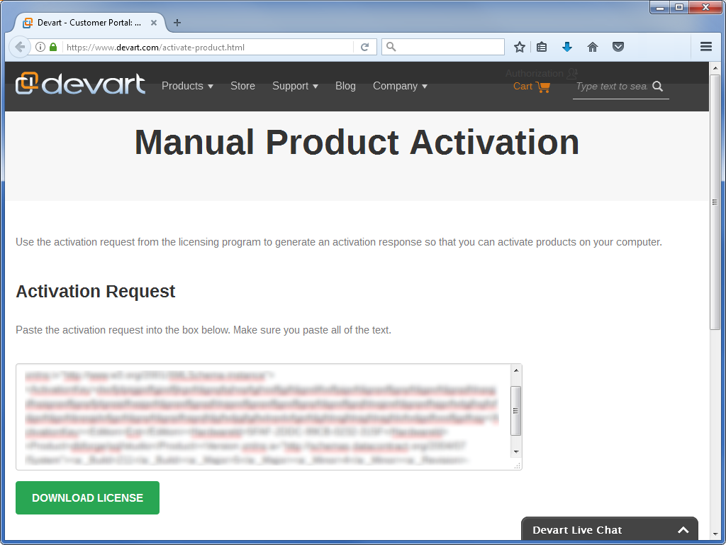 Activation Page
