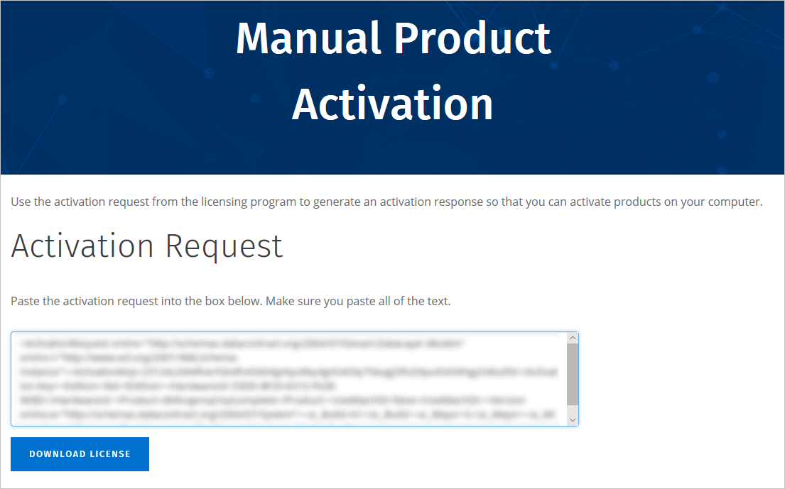 Product Activation Page