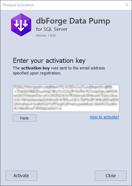 Product Activation Window