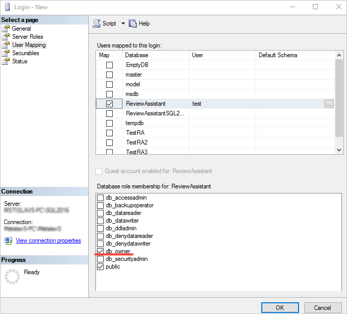 How to Setup SQL Server Connection