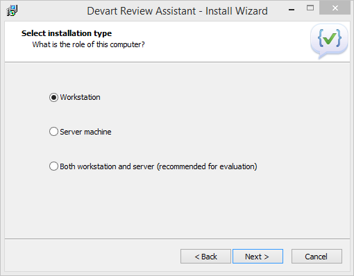 Manager's Installation of Review Assistant Client