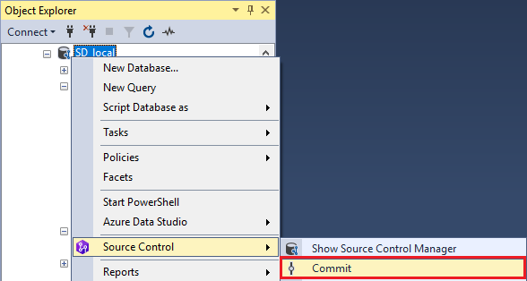 Commit Changes SSMS Shortcut