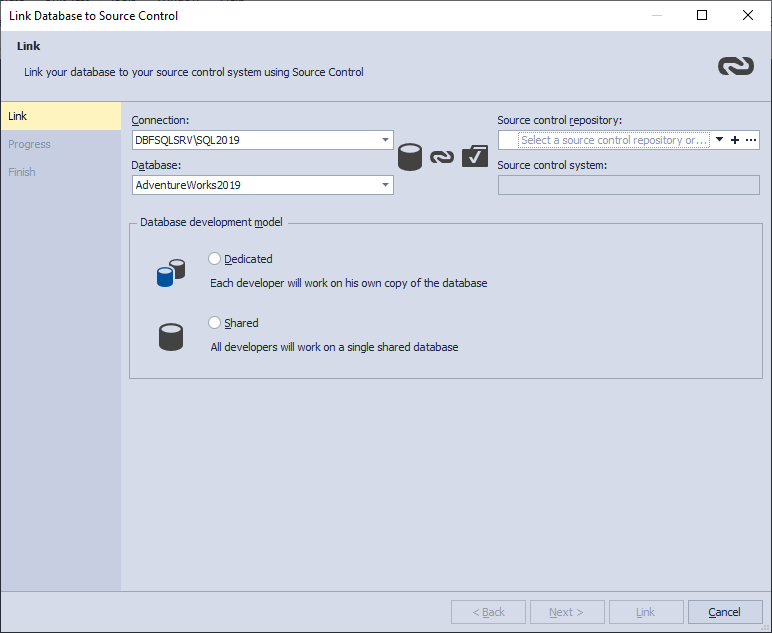 How to Link a SQL Server Database to Perforce Repository