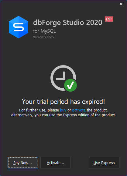 Trial period expired