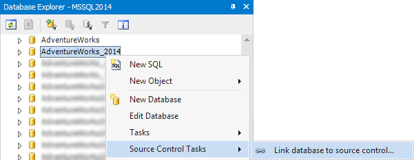 Link DB to Source Control